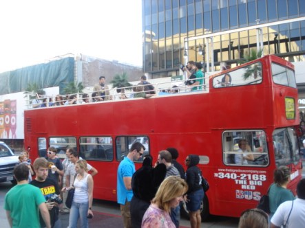 The Big Red Bus in Travel Channel's Men vs Food
