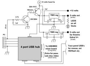 Powered Usb Hub Wiring Diagram  Wiring Diagram and Schematic