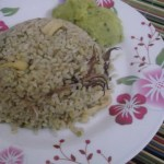 Koonthal Chorum Parippum – Squid Rice with Dal