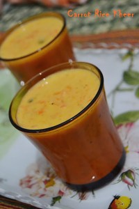 """Carrot Rice Kheer – My 12th guest post for """"The Flavorista"""""""