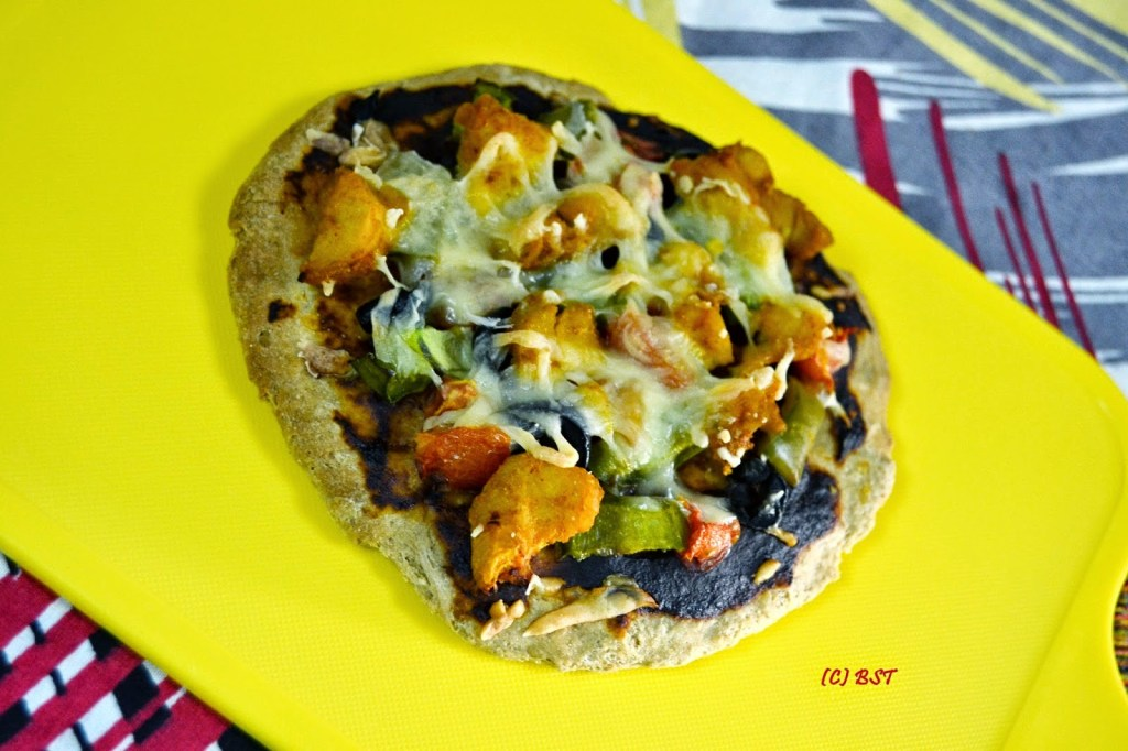 Mini Chicken Pizza with Wholewheat Base