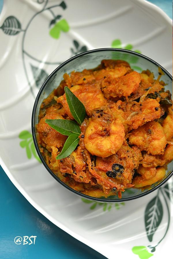 Malabar Chemmeen Roast ~ Malabar Prawns Stir Fry