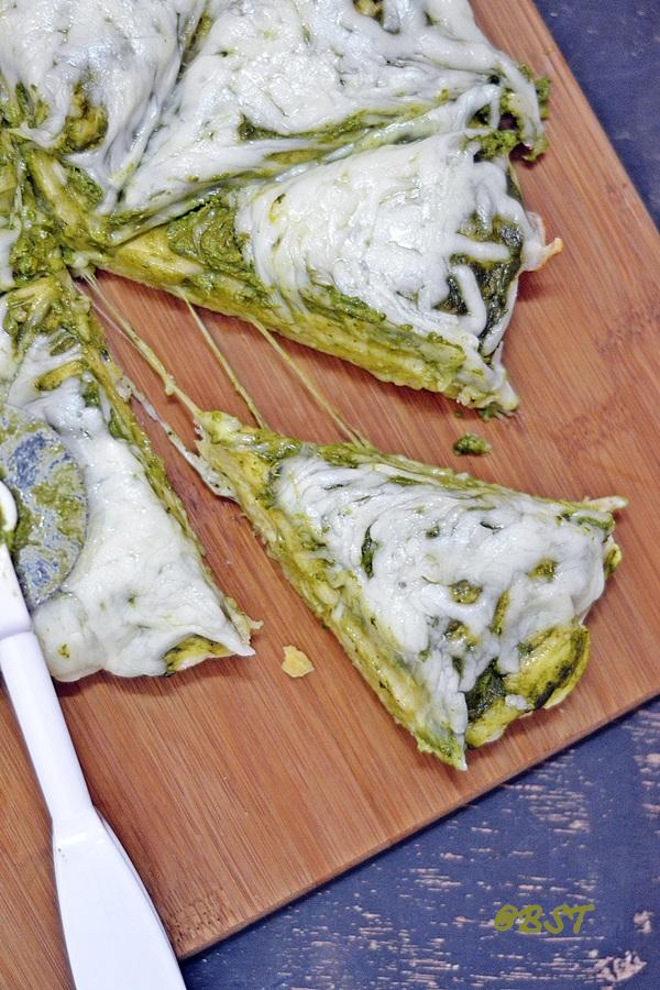 Pesto Stovetop Pizza ~ Pizza in just 20 minutes!