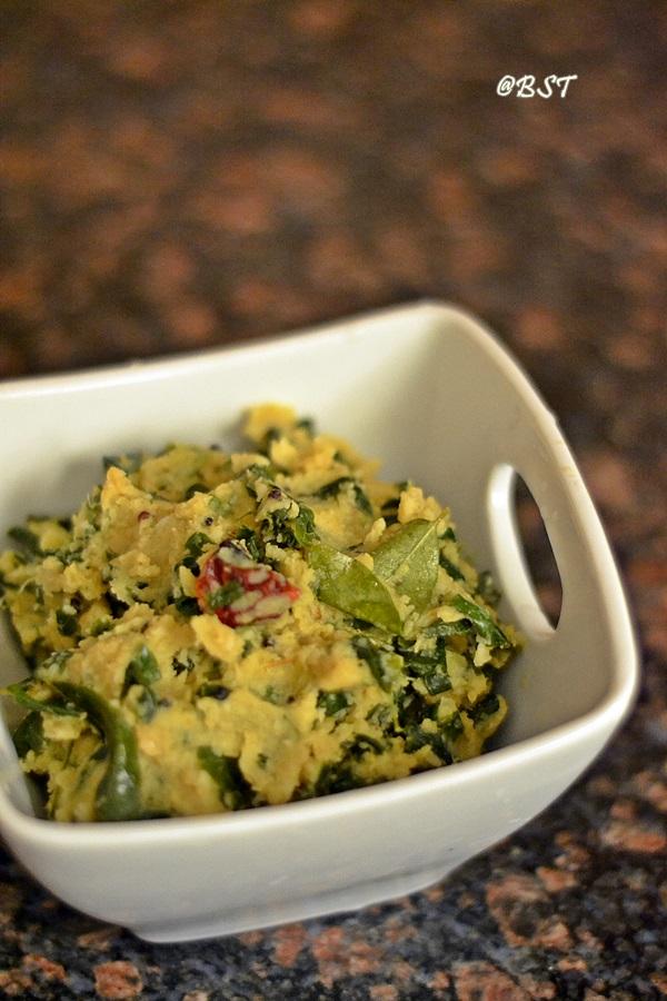 Muringayila Parippu Upperi ~ Drumstick Leaves with Lentils