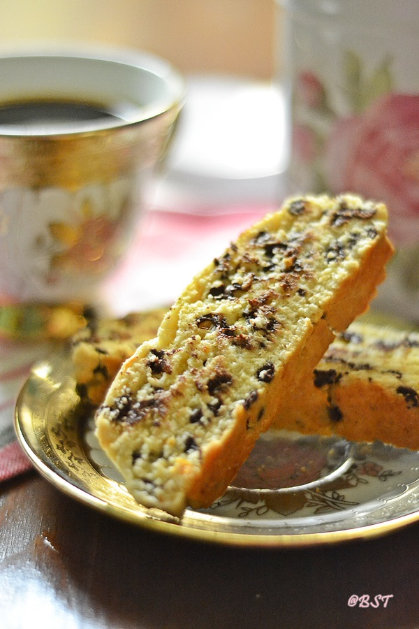 Orange Chocolate Chip Biscotti ~ Guest post for Priya's Kitchenette