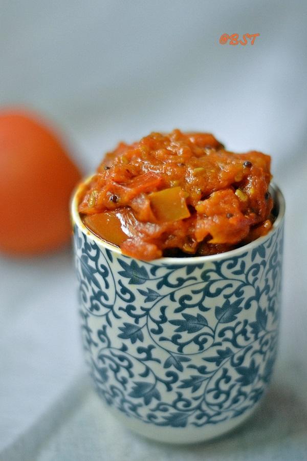 Thakkali Thokku ~ Spicy Tomato Relish