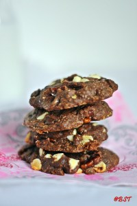 Triple Chocolate Pecan Cookies