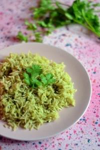 Kothamalli Sadam ~ Coriander Rice