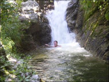 jungle waterfall-Puerto Vallarta