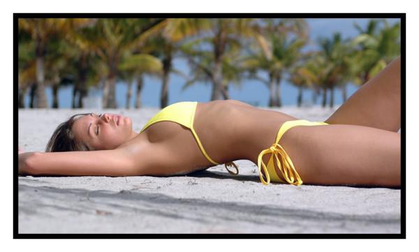 Yellow String Bikini-1