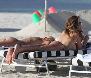 Claudia Galanti-Thong-Bikini-Sun-Bathing