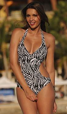 Zebra Cut-Out-Monokini