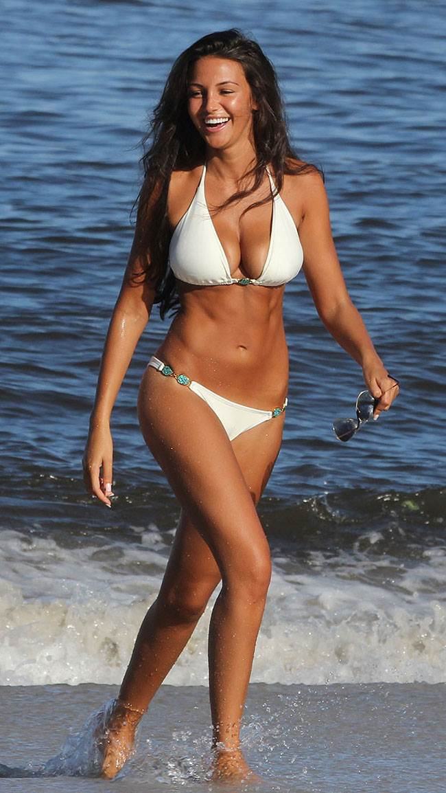 Michelle Keegan super sexy white bikini