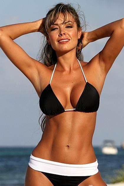 Banded Thong Bikinis front