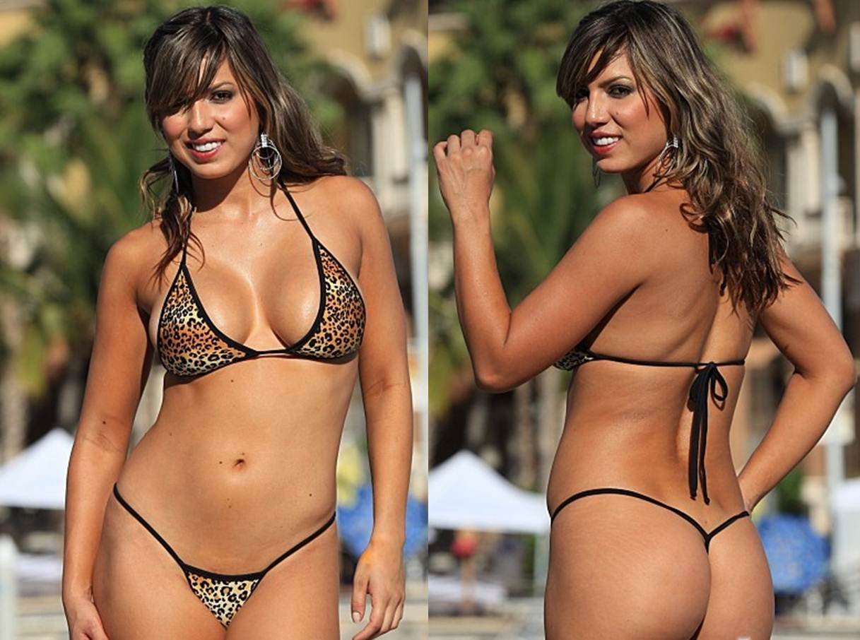 How to Buy your Girlfriend a Thong Bikini Aminal Print Leopard G String