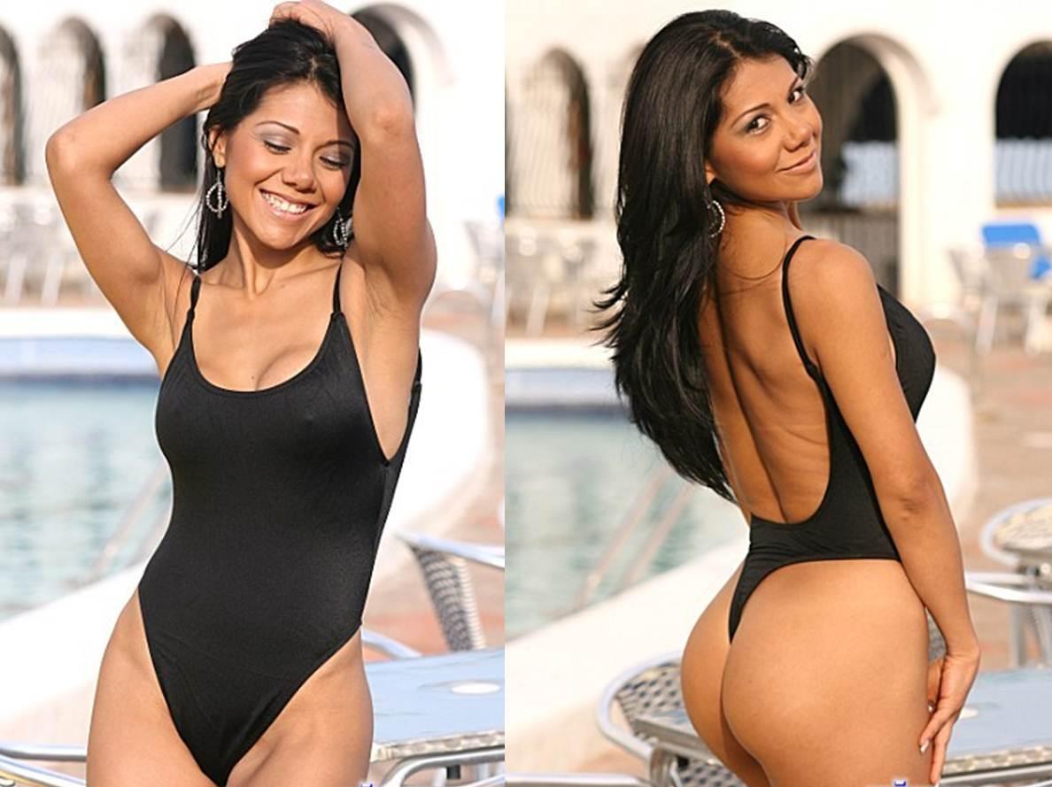 How to Buy your Girlfriend a Thong Bikini Black One Piece Thong Swimsuit