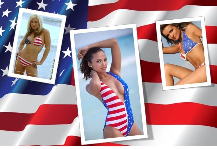 Patriotic bikinis, patriotic swimwear