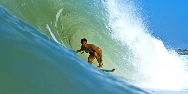 Sally FitzGibbons-In-The-Tunnel-Surfing