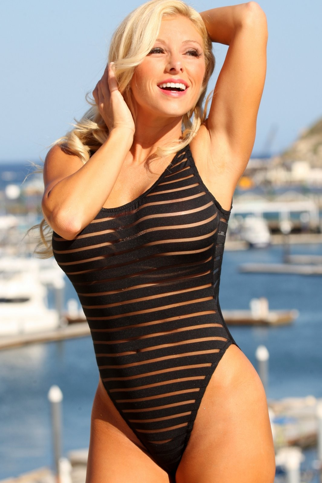 Sensual-See-Through-Black-Sheer-Striped-One-Piece-Swimsuit