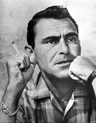 Rod Serling, 1959. He was heavily censored by corporate sponsors until he got his own show, Twilight Zone. He died at age 50 after multiple heart attacks, the last one during surgery.