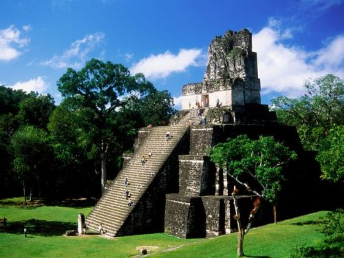 Maya pyramid in Gutemala