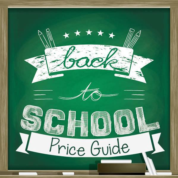 Back to School Price Guide