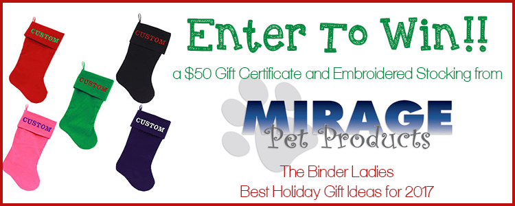 Giveaway! Enter to Win a $50 Gift Certificate & Embroidered Stocking from Mirage Pets!