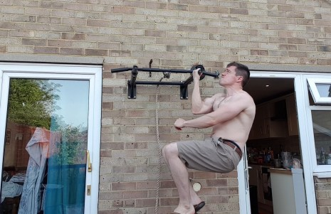 Rope climb for one armed chin up