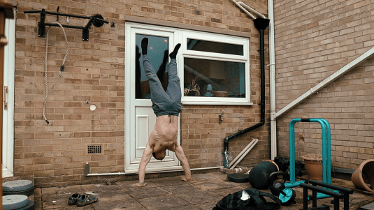 Handstand tip: use a wall