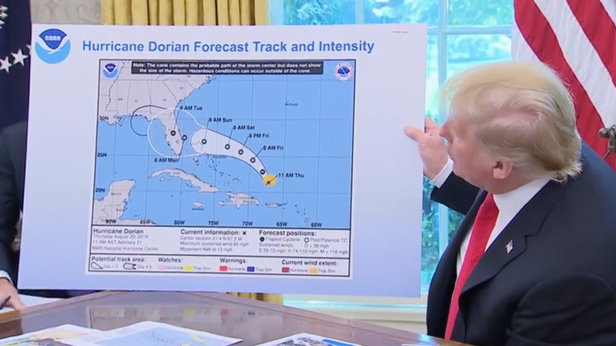 Trump has Moved On…to Posting Fake Weather