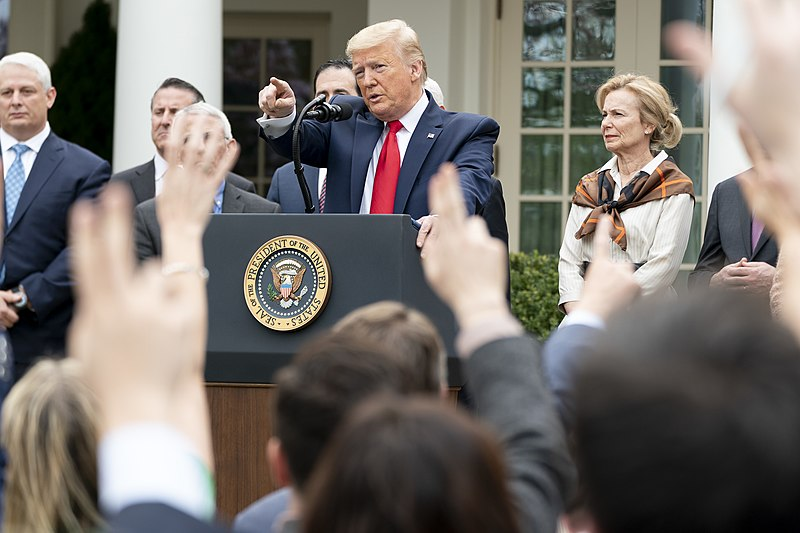 Trump Continues To Stand at the Podium Daily and Says Untrue Things About Coronavirus