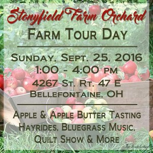 Come Visit Stonyfield Farm Orchard – Farm Tour Day on September 25, 2016