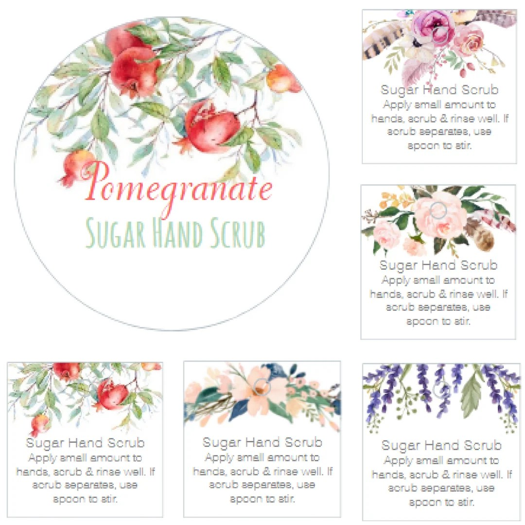 New Sugar Hand Scrub Printable Labels And T Tags