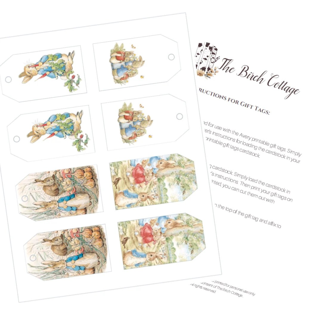 Peter Rabbit T Tags Amp Other Easter Printables