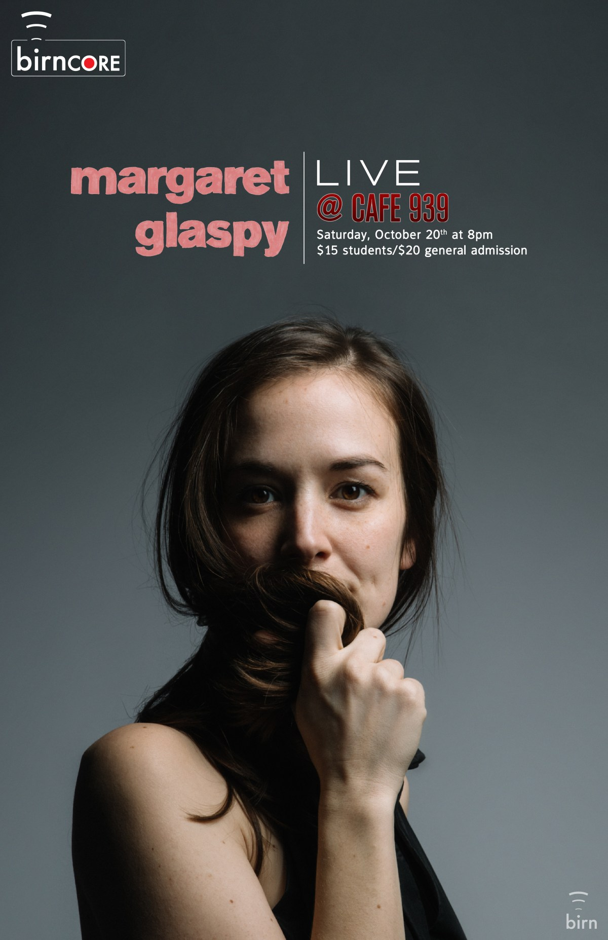 birnCORE Live featuring Margaret Glaspy at the Red Room on 10/20