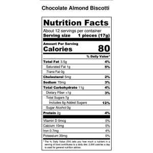 chocolae-almond-biscotti-nutritional-facts