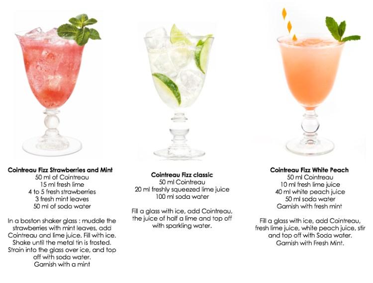 Cointreau Fizz cocktails