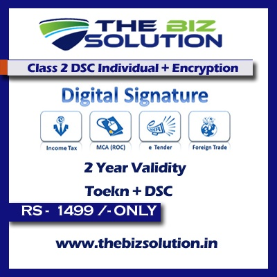 Online Class 2 Digital Signature Individual & Encryption sign lowest price