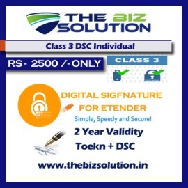 class 3 dsc individual signing 2 years validity e tender e bid low price