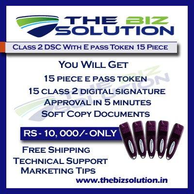 Bulk Digital Signature certificate with E pass token lowest price set of 15