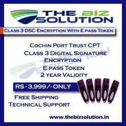 Tender process Cochin Port Trust CPT Class 3 dsc with encryption low cost