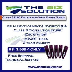 E tender of Delhi Development Authority DDA Class 3 Digital Signature