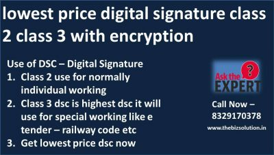 Class 2 or Class 3 Digital Signature buy Online at lowest price