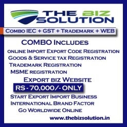 Combo Online IE Code GST MSME Trademark registration with website