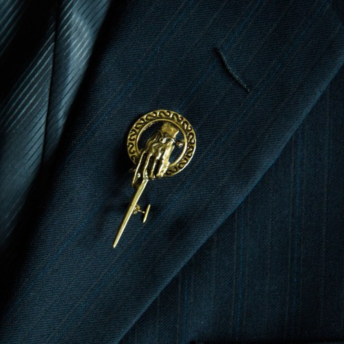 hand of the king lapel pin
