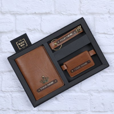 Personalised brown color Travel Accessories