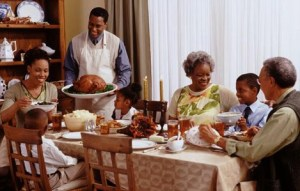 Black thanksgiving-dinner
