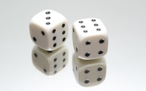 2 dice showing 3 and 6