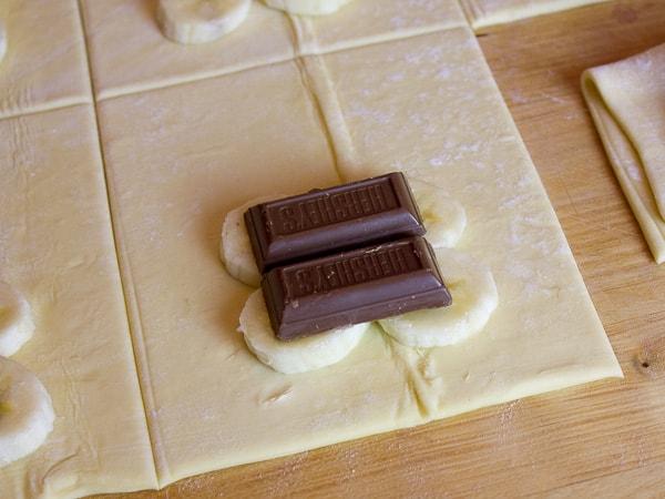 Chocolate Banana Turnovers