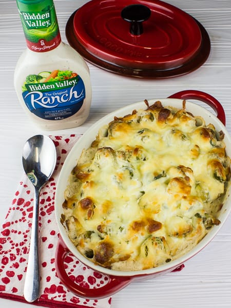Cheesy Ranch Brussels Sprout Bake-5
